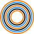 WeImprovise! Logo Icon, Concentric Circles