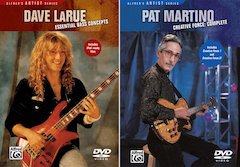 New on DVD from Alfred: Dave LaRue's Essential Bass Concepts And Pat Martino's Creative Force