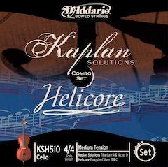 New Kaplan Solutions/Helicore Combo Cello Set From D'Addario [ Winter NAMM 2007 ]
