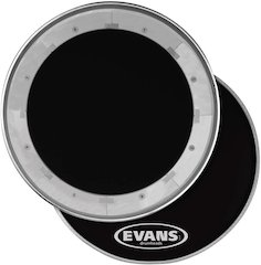 Evans MX Black Marching Tenor & Bass Drum Heads [ Winter NAMM 2008 ]