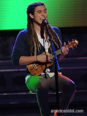"Jason Castro, Finalist on ""American Idol"", Plays Oscar Schmidt"