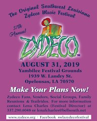 37th Annual Original SW LA Zydeco Music Festival, August 31st 2019