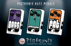 Pigtronix introduces the Bass Envelope Phaser, Philosopher Bass Compressor and Bass FAT Drive pedals