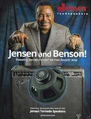 Jensen® Tornado is George Benson's Speaker Choice for the Fender® GB Signature Twin Reverb® Amplifier